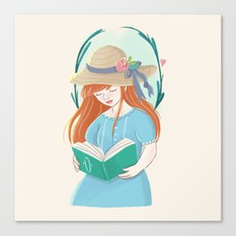 The Book Lover Canvas Print