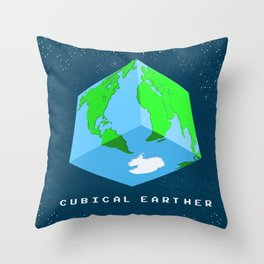 Cubical Earther Throw Pillow