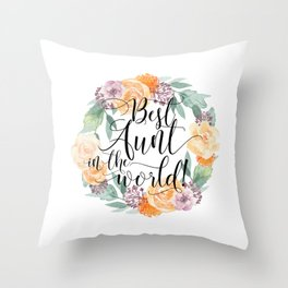 Best Aunt in the World Throw Pillow