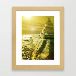 I want to live in a Castle. Framed Art Print