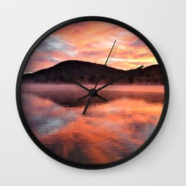 Sunrise: Fire and Water Wall Clock