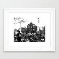 bicycles Framed Art Prints featuring Bicycles by Francesca Vincis