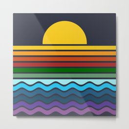 Geometric Rainbow Nature Metal Print