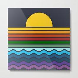 Geometric Rainbow Nature Metal Print
