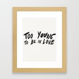 Young Unlover Framed Art Print
