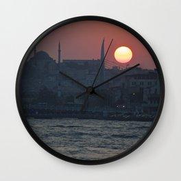 Istanbul Sun Wall Clock