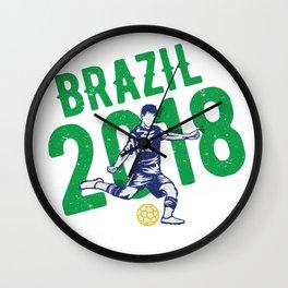 Brazil 2018 world cup Wall Clock