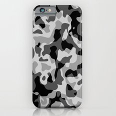 Grey Camouflage Army Military Pattern iPhone 6 Slim Case