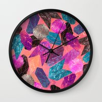 gem Wall Clocks featuring Gem Pop by Nikkistrange