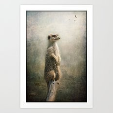The Watcher on the post... Art Print