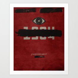 George Orwell's 1984 Inspired Vintage Movie Poster Art Print