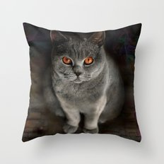 Superstarmodelcat Diesel Throw Pillow