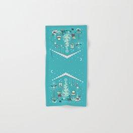 Retro Holiday Decorating Hand & Bath Towel