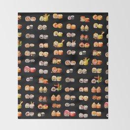 Sushi set Throw Blanket