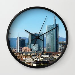 Milan City Skyline Wall Clock