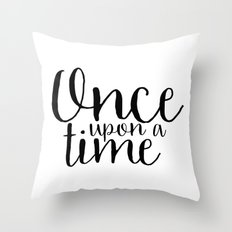 Once Upon a Time Throw Pillow