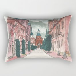 Cloudy street Rectangular Pillow