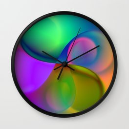 vortex triptych Wall Clock