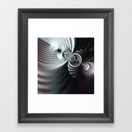 Abstract 3D striped serenity Framed Art Print