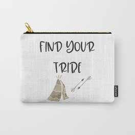Find Your Tribe, Teepee & Arrows Carry-All Pouch