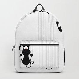 Cat Scratch - Cats do $1,000,000 abstact line art Backpack