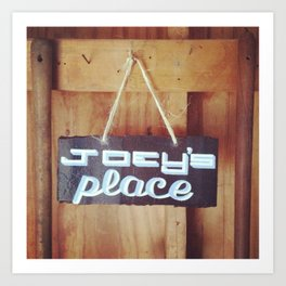 Vintage Sign - Joey's Place Art Print