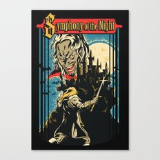 Symphony of the night Canvas Print