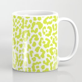 Chartreuse French Leopard Print Coffee Mug