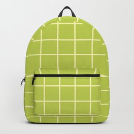 Grid Pattern Chartreuse and Yellow 2 Backpack
