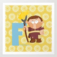f for farmer Art Print