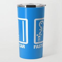 Fast Car - Fast Driver v4 HQvector Travel Mug