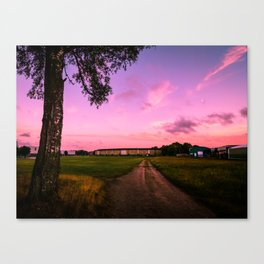 Sunset in a Small Town in Sweden Canvas Print