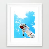 spaceman Framed Art Prints featuring Spaceman by Richwill Company