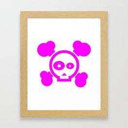 Skull Pop! Framed Art Print