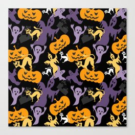 Halloween pattern Canvas Print