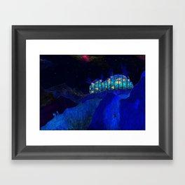 The mountain shelter Framed Art Print