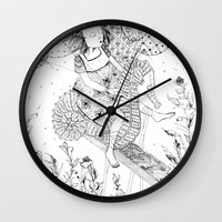 seahorse Wall Clocks featuring Seahorse by Amy Consolo