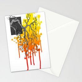 Liquid Autumn Leaves (Light) Stationery Cards