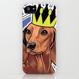 Brown dachshund king iPhone Case