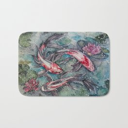 Harmony (Watercolor Painting) Bath Mat