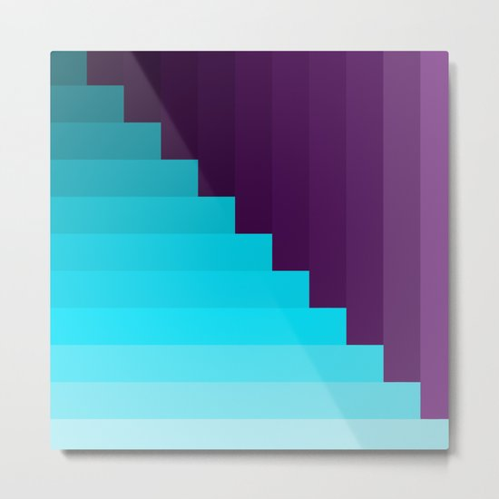 Ups and Down | Deep Within | Purple | Blue | Turquoise Metal Print