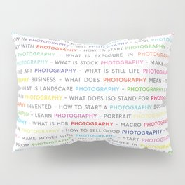 Colored Photography Keywords Pillow Sham