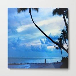 Tahitian Evening Beach Walk, Bora Bora Metal Print