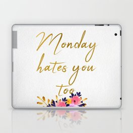 Monday hates you too - Flower Collection Laptop & iPad Skin