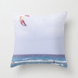 kite surfin' Throw Pillow