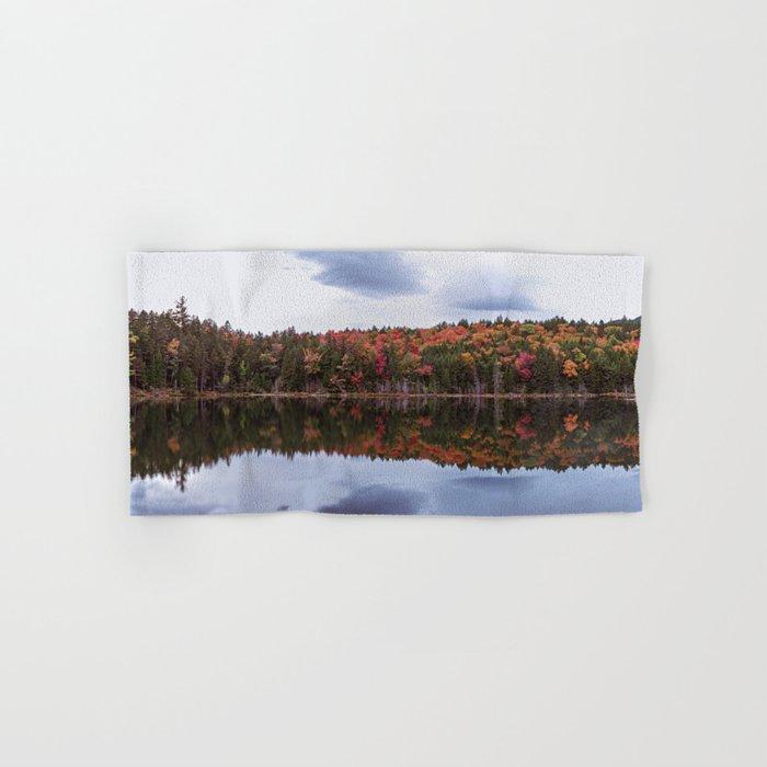 Autumn reflection Panorama Hand & Bath Towel