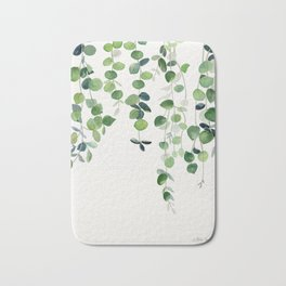 Eucalyptus Watercolor 2  Bath Mat