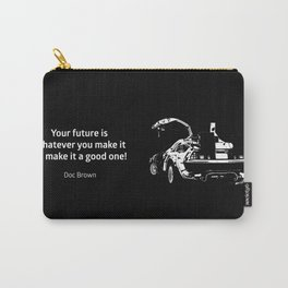 Back to the Future Doc Brown Quote 80s poster Carry-All Pouch