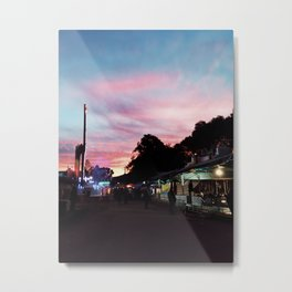 country town fair at sunset Metal Print
