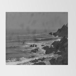 Rocky Coast of Ireland Throw Blanket